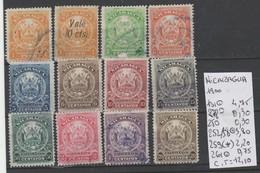 TIMBRES DE NICARAGUA NEUF**/(*)/OBLITEREES 1882-1900-04 Nr VOIR SUR PAPIER AVEC TIMBRES  COTE 43.95   € - Nicaragua