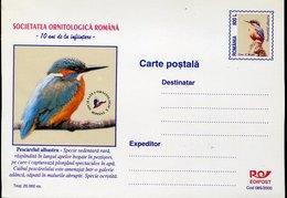 51075  Romania, Stationery Card  800L Showing   Kingfisher Eisvogel  Martin-pêcheur - Specht- & Bartvögel