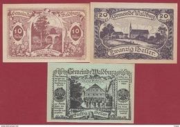 Autriche 3 Notgeld Stadt Waldburg Dans L 'état N °71 - Austria
