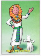 CARTE POSTALE TINTIN EN EGYPTIEN - Cartes Postales