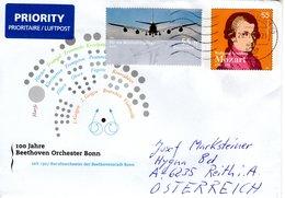 Auslands- Brief Von Briefzentrum 79 Mit 55 Cent Vordruckkuvert Mozart Beethoven Orchester Bonn + 55 Cent A 380 2020 - Storia Postale