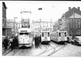 NMVB - Charleroi Pl Eden, 30 Dec 1951, 10396, 10243 En 10366, Auteur J. Voerman - Trains