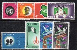 APR1394 - NIGERIA , L'annata 1968 Completa Di Otto Valori  ***  MNH  (2380A) . - Nigeria (1961-...)
