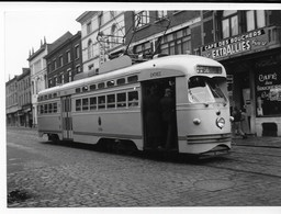 NMVB - PCC 10395, Gilly Quatre Bras, 14 Nov 1950, Auteur J. Voerman - Trains