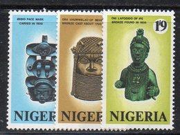 APR1669 - NIGERIA 1971, Serie Yvert N. 257/259  ***  MNH  (2380A) .  Arte - Nigeria (1961-...)
