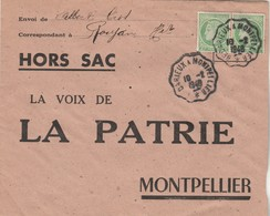 Enveloppe HORS SAC Yvert 680 X 2 Paire Mazelin ROUJAN Hérault Cachet Ambulant Bédarieux La Voix De La PATRIE Montpellier - France
