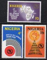 APR1949 - NIGERIA 1972, Serie Yvert N. 267/269  ***  MNH  (2380A) .  Fiera - Nigeria (1961-...)