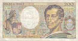 J26 - Billet 200 Francs - Type Montesquieu - 1990 - 200 F 1981-1994 ''Montesquieu''