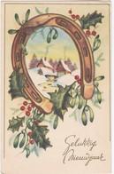 CPA Coul. Gelukkig Nieuwjaar - Fer à Cheval - 1953 - Neujahr
