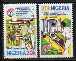 APR2307 - NIGERIA 1988, Serie Yvert N. 519/520  ***  MNH  (2380A) .  Croce Rossa - Nigeria (1961-...)