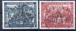 """(DDR-BM1) Alliierte Besetzung Sowjetische Zone Mi 240/41 """"Leipziger Herbstmesse 1949"""" Sauber Gestempelt - Zona Sovietica"""