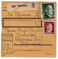 Colis Postal  /  Départ Schrimm / 28-5-43 - Allemagne
