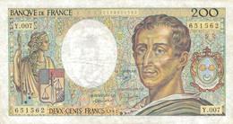 J26 - Billet 200 Francs - Type Montesquieu - 1981 - 200 F 1981-1994 ''Montesquieu''