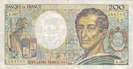 J26 - Billet 200 Francs - Type Montesquieu - 1991 - 200 F 1981-1994 ''Montesquieu''