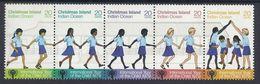 AUSTRALIA CHRISTMAS ISLAND 1979 INTERNATIONAL YEAR OF CHILD NHM CHILDREN HOLDING HANDS INDIAN OCEAN Mi 110-4 SG 108-112 - Zonder Classificatie
