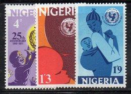 APR2299 - NIGERIA 1971, Serie Yvert N. 260/262  ***  MNH  (2380A) .  Unicef - Nigeria (1961-...)