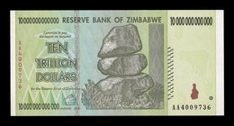 Zimbabwe 10000000000000 10 Trillion Dollars 2008 Pick 88 SC UNC - Zimbabwe