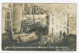 Esch/Alzette Fliegerbomben Zertrümmerte Wohnhaüser In Der Wasserstrasse 24-3-18 Th Wirol - Cartes Postales