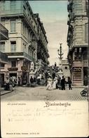 Cp Blankenberge Westflandern, Le Grand Escalier, Blick Auf Die Treppe, Hotel De Bruges - Sonstige