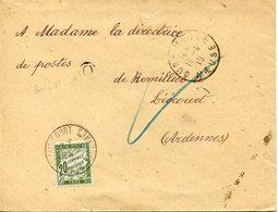 Ardennes. REMILLY-AILLICOURT. 1910. Taxe Pour La Receveuse Des Postes - Marcofilia (sobres)