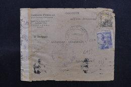ESPAGNE - Enveloppe Commerciale De Tarragona Pour Le Cameroun Français En 1943 Avec Contrôles Postaux - L 51710 - Marques De Censures Nationalistes