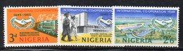 APR2286 - NIGERIA 1965, Serie Yvert N. 191/193  *  (2380A) .  Onu. - Nigeria (1961-...)