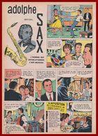 Adolphe Sax. Inventeur Du Saxophone. Bande Dessinée De 1961. Scénario Duval. Dessins L & F Funcken. - Documents Historiques
