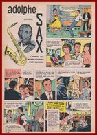 Adolphe Sax. Inventeur Du Saxophone. Bande Dessinée De 1961. Scénario Duval. Dessins L & F Funcken. - Historische Documenten