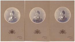 3 PORTRAITS D'UNE  FEMME,    PH. A. FERNBACH - Personnes Anonymes