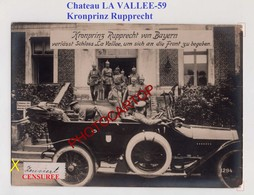 Chateau LA VALLEE-Kronprinz RUPPRECHT-Censure-Grosse CARTE PHOTO Allemande-Guerre14-18-1 WK-France-59-Militaria- - France