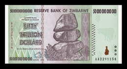 Zimbabwe 50000000000000 50 Trillion Dollars 2008 Pick 90 SC UNC - Simbabwe
