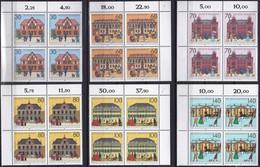 """BRD, 1991 Nr. 1563-1568 **,  6 Viererblöcke Mit Eckrand Oben, """"Historische Posthäuser"""" - Nuovi"""