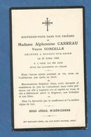 IMAGE GENEALOGIE FAIRE PART AVIS DECES CARREAU CORCELLE 1905  NOGENT SUR SEINE - Décès