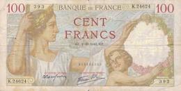 J26 - Billet 100 Francs - Type Sully - 1941 - 1871-1952 Anciens Francs Circulés Au XXème