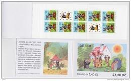 Carnet 2002 De 8 Timbres + 2 Coupons YT C 302 Enfants Taupe / Booklet Michel MH 103 (322) - Tchéquie