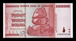 Zimbabwe 20000000000000 20 Trillion Dollars 2008 Pick 89 SC- AUNC - Zimbabwe