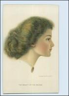 Y5024/ C. Warde Braver Litho AK  Junge Frau  , Schöne Frisur Ca.1910 - Illustrateurs & Photographes