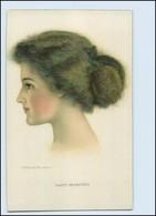 Y5025/ C. Warde Braver Litho AK  Junge Frau  , Schöne Frisur Ca.1910 - Illustrateurs & Photographes