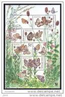 2002 Faune Papilloons Butterflies YT BF 15 Mi B. 17 - Blocs-feuillets