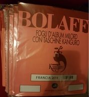 FRANCIA  FOGLI 24 ANELLI GBE MILORD DELLA BOLAFFI DAL 2001 AL 2014 - Collections