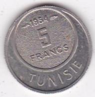 TUNISIE. 5 FRANCS 1954 (AH 1373). Copper Nickel - Tunisia