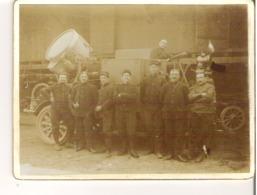Léon Garat Au Volant D'un Véhicule Avec Projecteur   Militaires Soldats - Guerre, Militaire