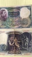 BILLET ESPAGNE 50 PESETAS - 1931 - [ 2] 1931-1939 : République