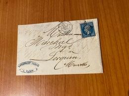 Lettre Du 30 Juillet 1863-  Oblitération étoile De PARIS Sur Napoléon 20c - Cachet 3e Ordre De Distribution - 1849-1876: Klassieke Periode