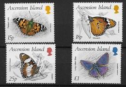 ASCENSION 1987 BUTTERFLIES - Papillons