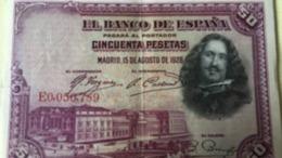 BILLET ESPAGNE 50 PESETAS - 1928 - Other