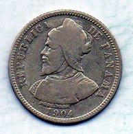 PANAMA, 10 Centesimos, Silver, Year 1904, KM #3 - Panama