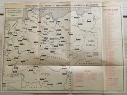 CARTE DES CAMPS DE PRISONNIERS DE GUERRE EN ALLEMAGNE / OFLAG STALAG   N2 - 1939-45