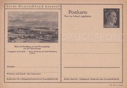 Carte Entier Postal Ganzsache Postkarte Druckprobe Blick Auf Hirschberg Und Das Riesengebirge Mit Der Schneekoppe - Allemagne