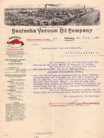 Schreiben, Deutsche Vacuum Oil Company, Nuernberg, Rueckseitig Zeugnis, 1910 (90255) - Documents Historiques